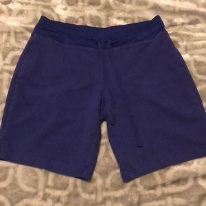 Purple Athletic Drawstring Shorts